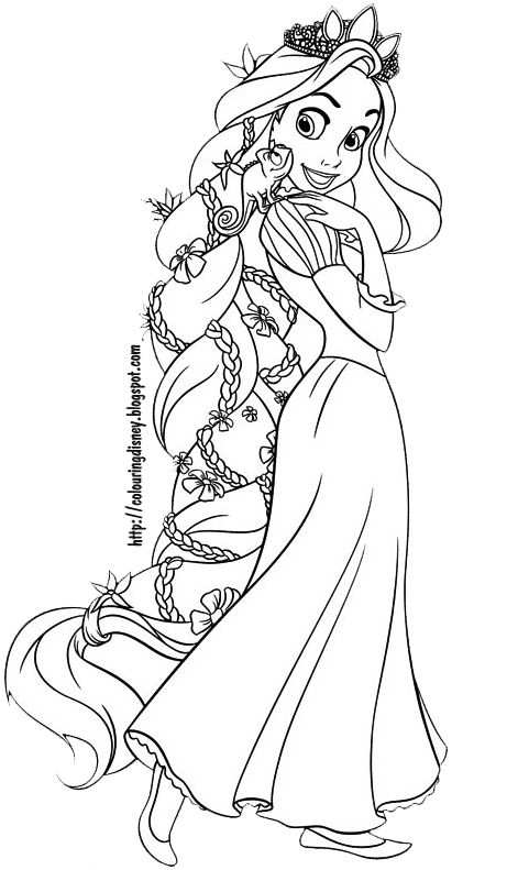 Tangled Coloring Pictures With Images Rapunzel Coloring Pages