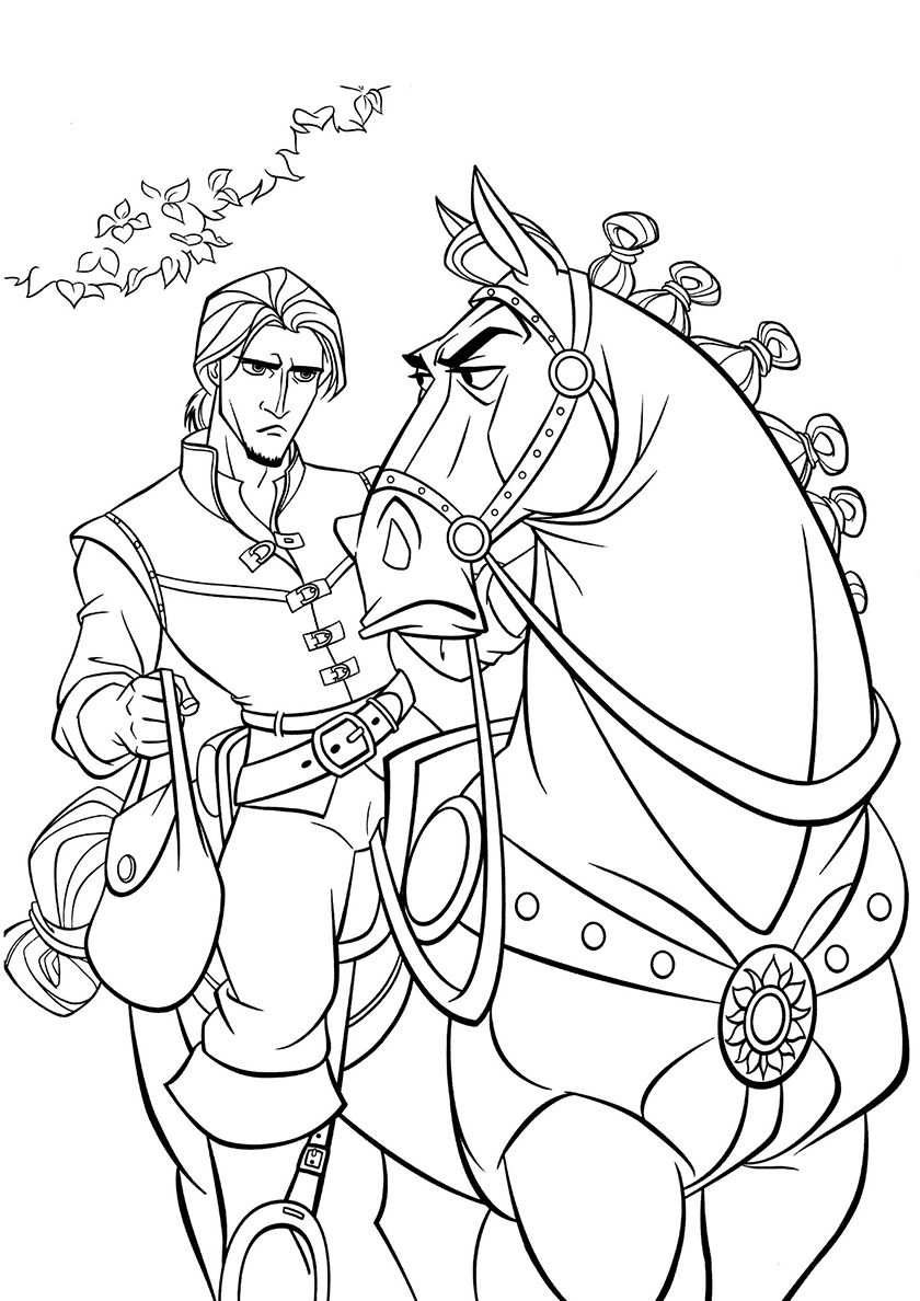 Naughty Horse Tangled Coloring Pages Rapunzel Coloring Pages