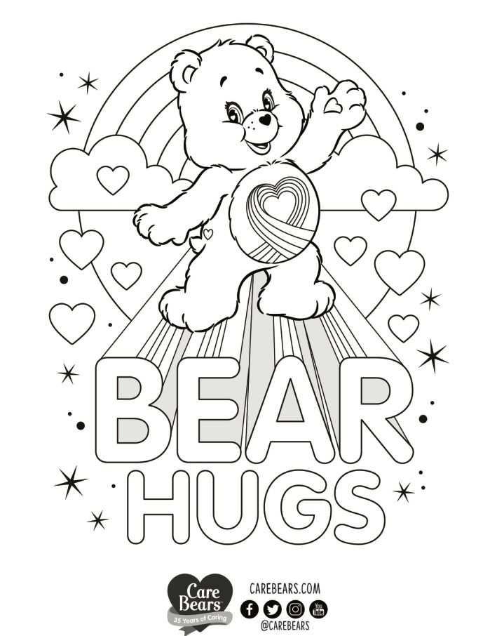 Pin Van Care Bears World Op Care Bear Rainbow Heart Bear Met