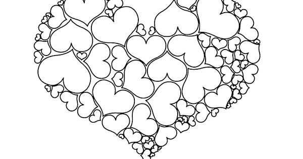 Een Hart Gemaakt Van Hartjes Met Afbeeldingen Valentijn