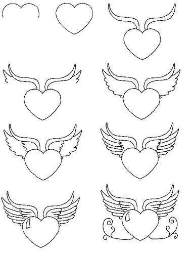 Hartje Met Vleugels Tekenen Met Afbeeldingen Tekenen Vleugels