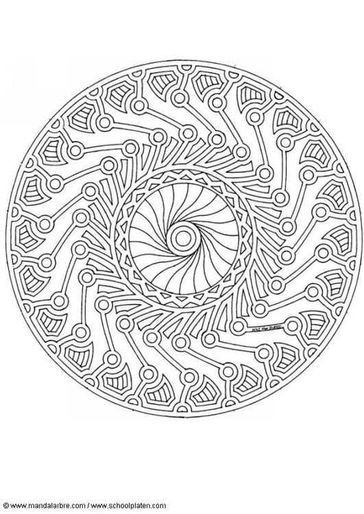 Coloring Page Mandala 1702g Mandala Kleurplaten