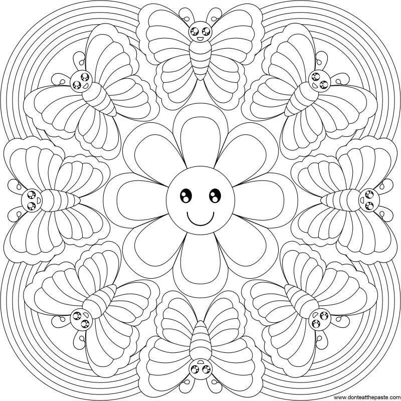 Feather Coloring Page Intricate Kleurplaten Mandala
