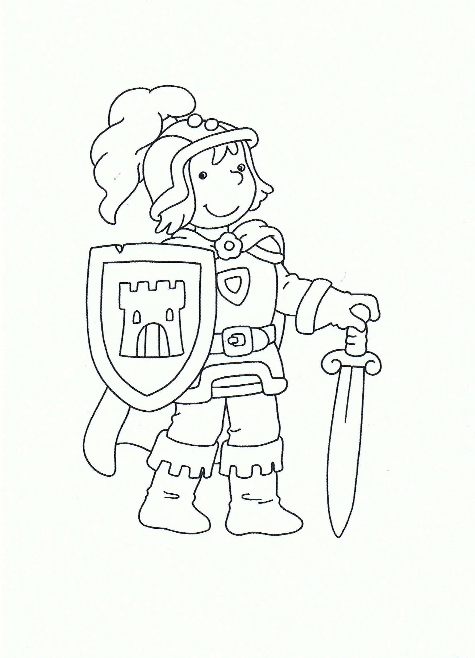 kleurplaat ridder