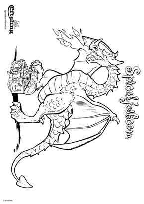 Kleurplaat Sprookjesboom Efteling Draak Bewaakt Zijn Schatkist