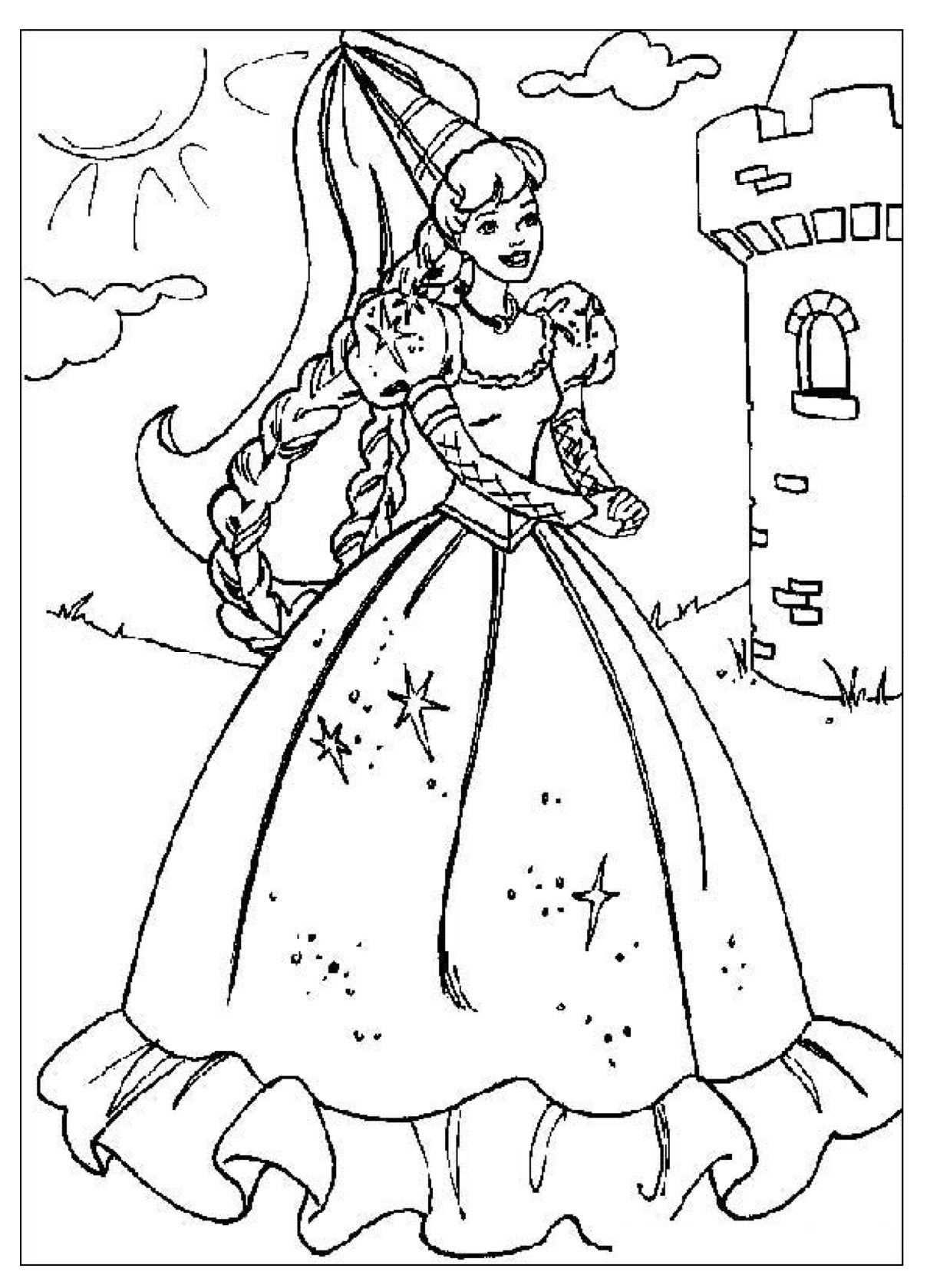 Jonkvrouw Prinses Kleurplaatjes Disney Kleurplaten Kerstmis