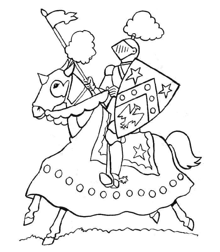 Ridder En Jonkvrouw Feest Organiseren Kleurboek Kleurplaten En