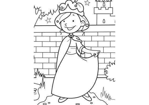 Kleurplaat Thema Ridders En Prinsessen Prinses Prinsessen En