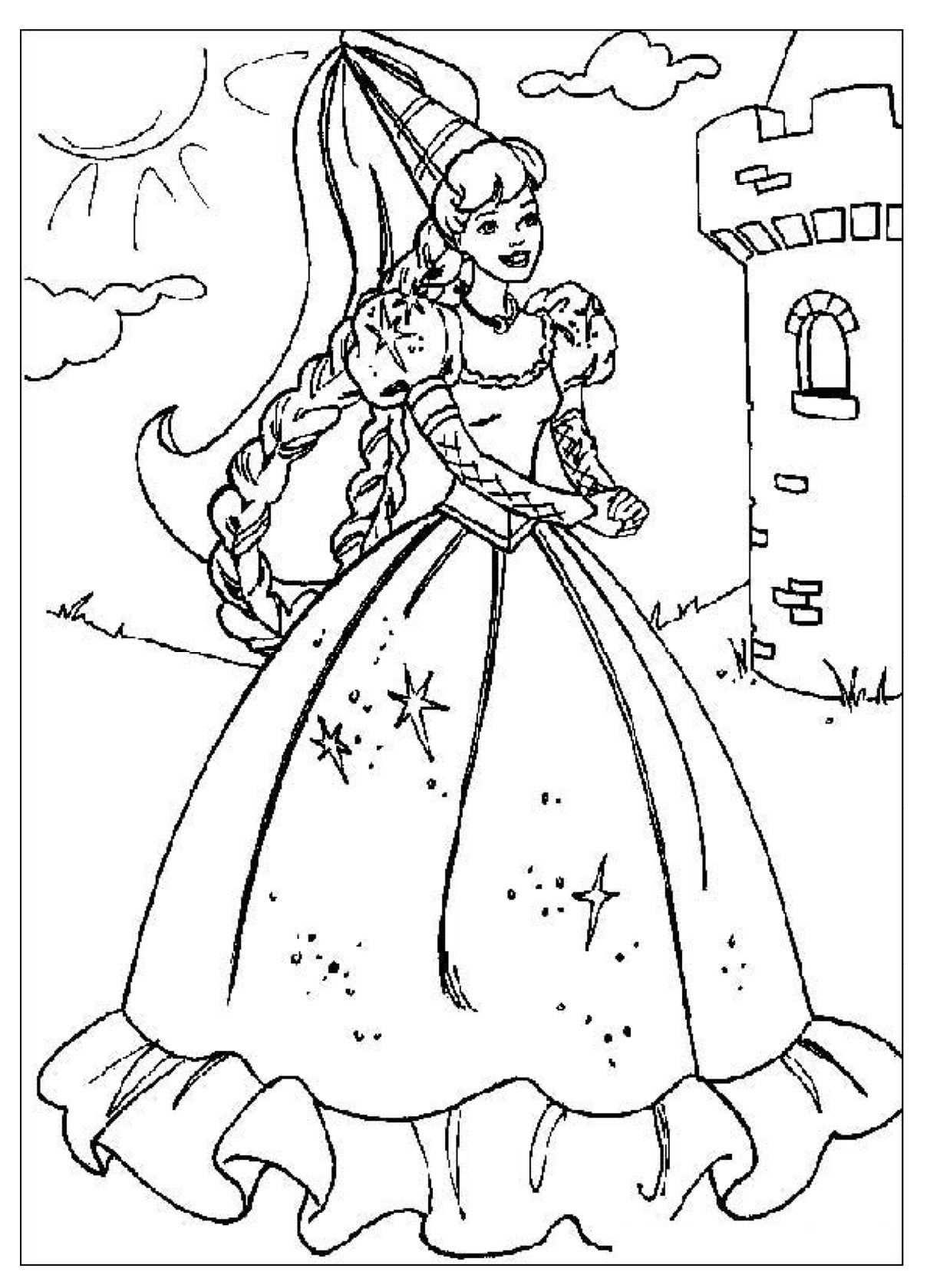 Kleurplaten Met Afbeeldingen Prinses Kleurplaatjes Disney