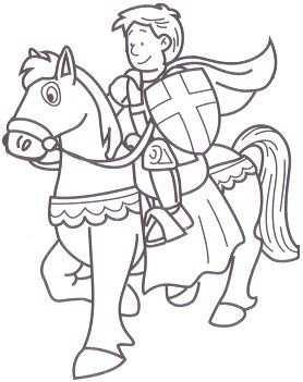 Kleurplaat Ridders Kleurplaten Ridders Thema
