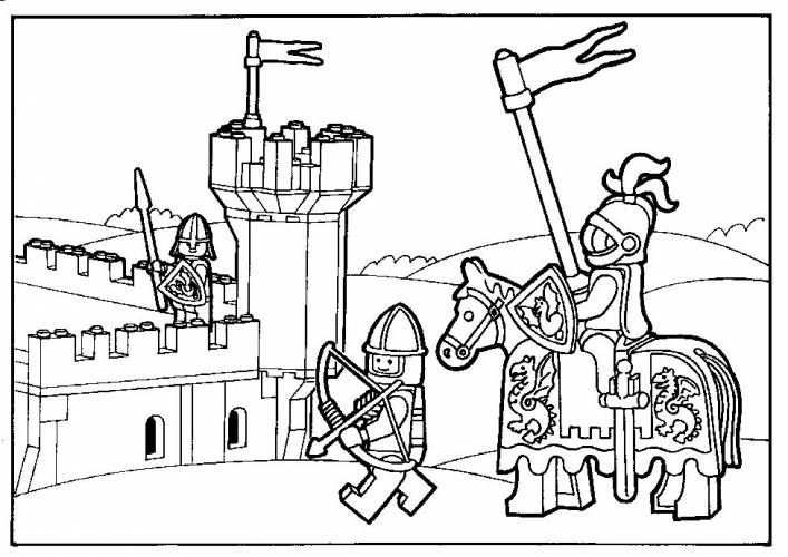 Kleurplaten Ridders Lego Met Afbeeldingen Lego Kleurplaten