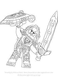 Clay From Lego Nexo Knights Free Coloring Page Met Afbeeldingen