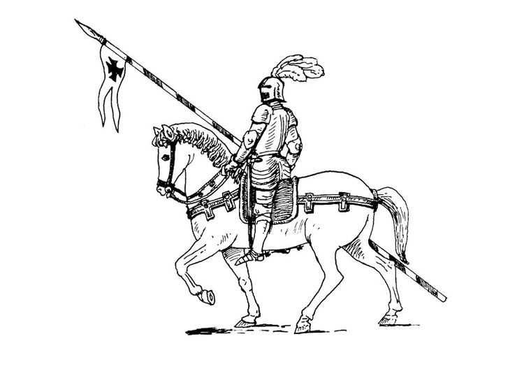 Kleurplaat Ridder Te Paard Met Afbeeldingen Kleurplaten