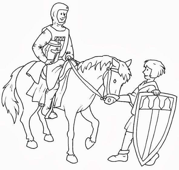 Kleurplaat Ridders Kleurplaten Geschiedenis