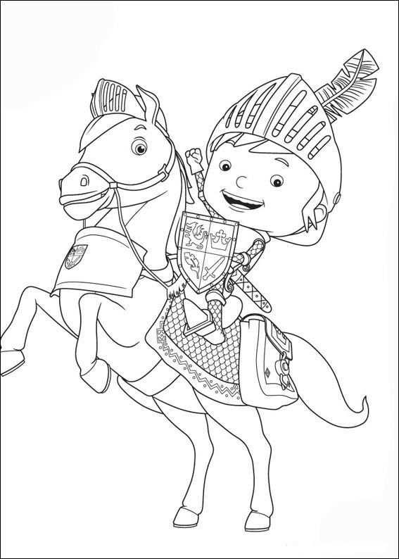 Desenhos Para Pintar Mike O Cavaleiro 2 Ridders Kleurplaten En