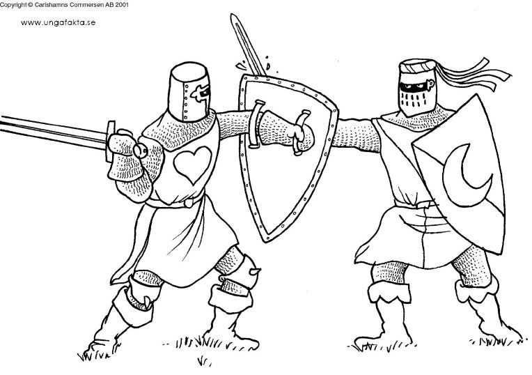 Kleurplaat Ridders En Kastelen Ridders Kastelen Middeleeuwse