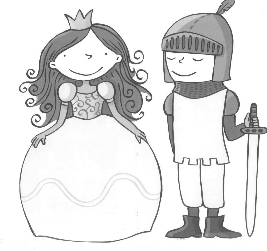 kleurplaat ridders en prinsessen
