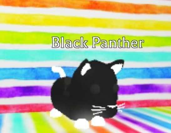 Adopt Me In 2020 Black Panther Neon Panther