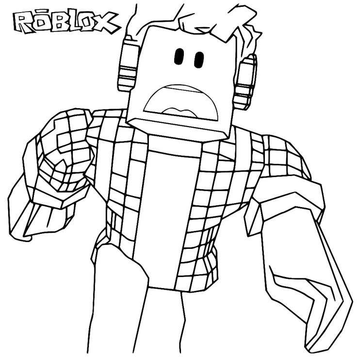 Fun For Kids Coloring Page Roblox In 2020 Kleurplaten Gratis