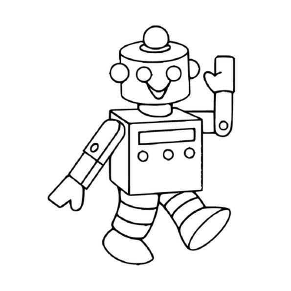 Coloriage Robot A Imprimer With Images Robots Drawing Robot