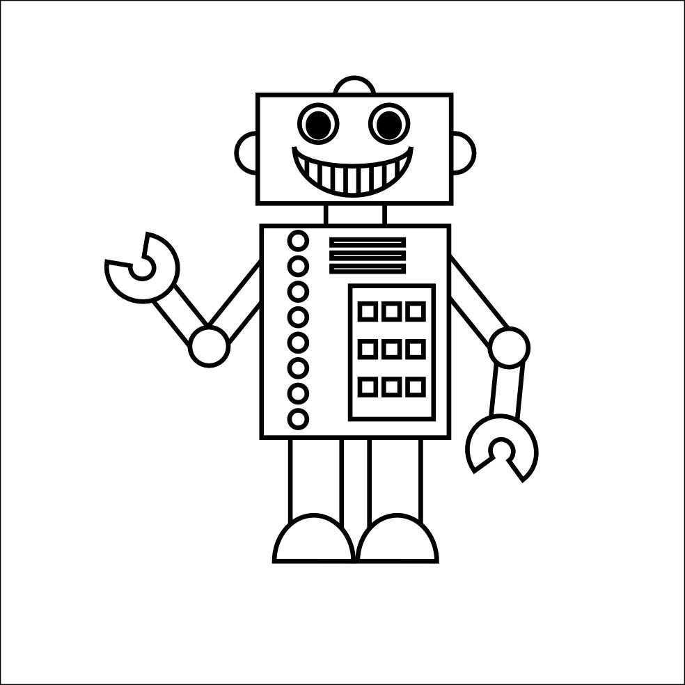 Free Printable Robot Coloring Pages For Kids Met Afbeeldingen