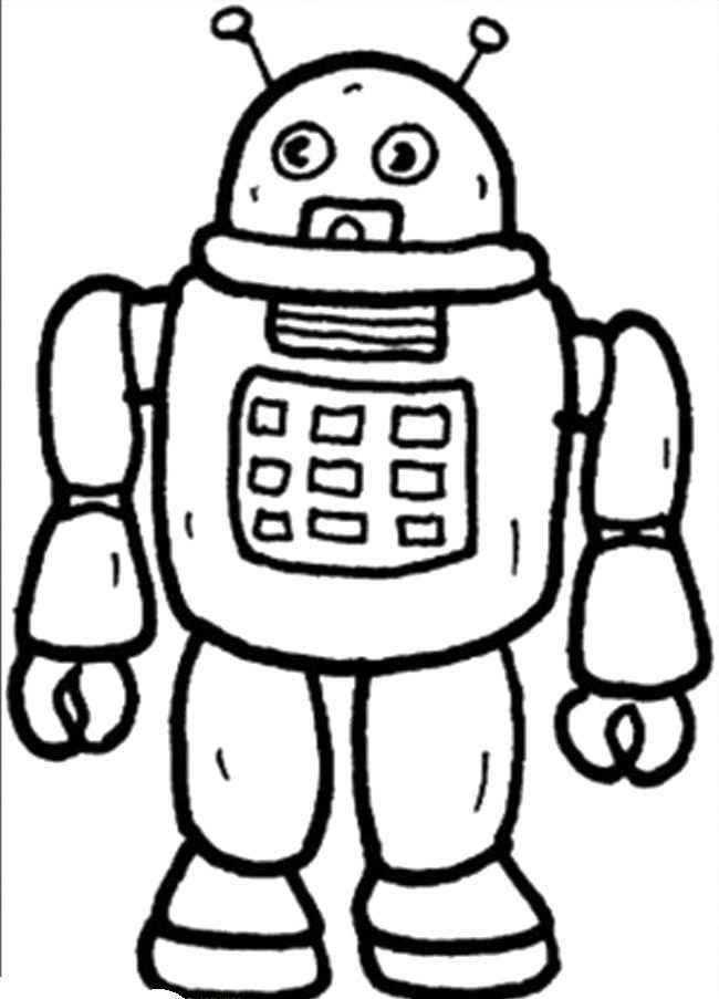 Robot Coloring Pages For Kids Space Coloring Pages Coloring