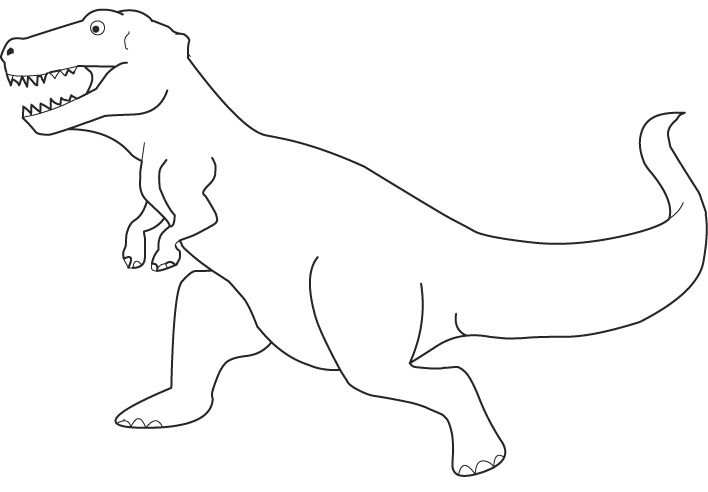 Kleurplaat Dino With Images Felt Animals Dinosaur Theme