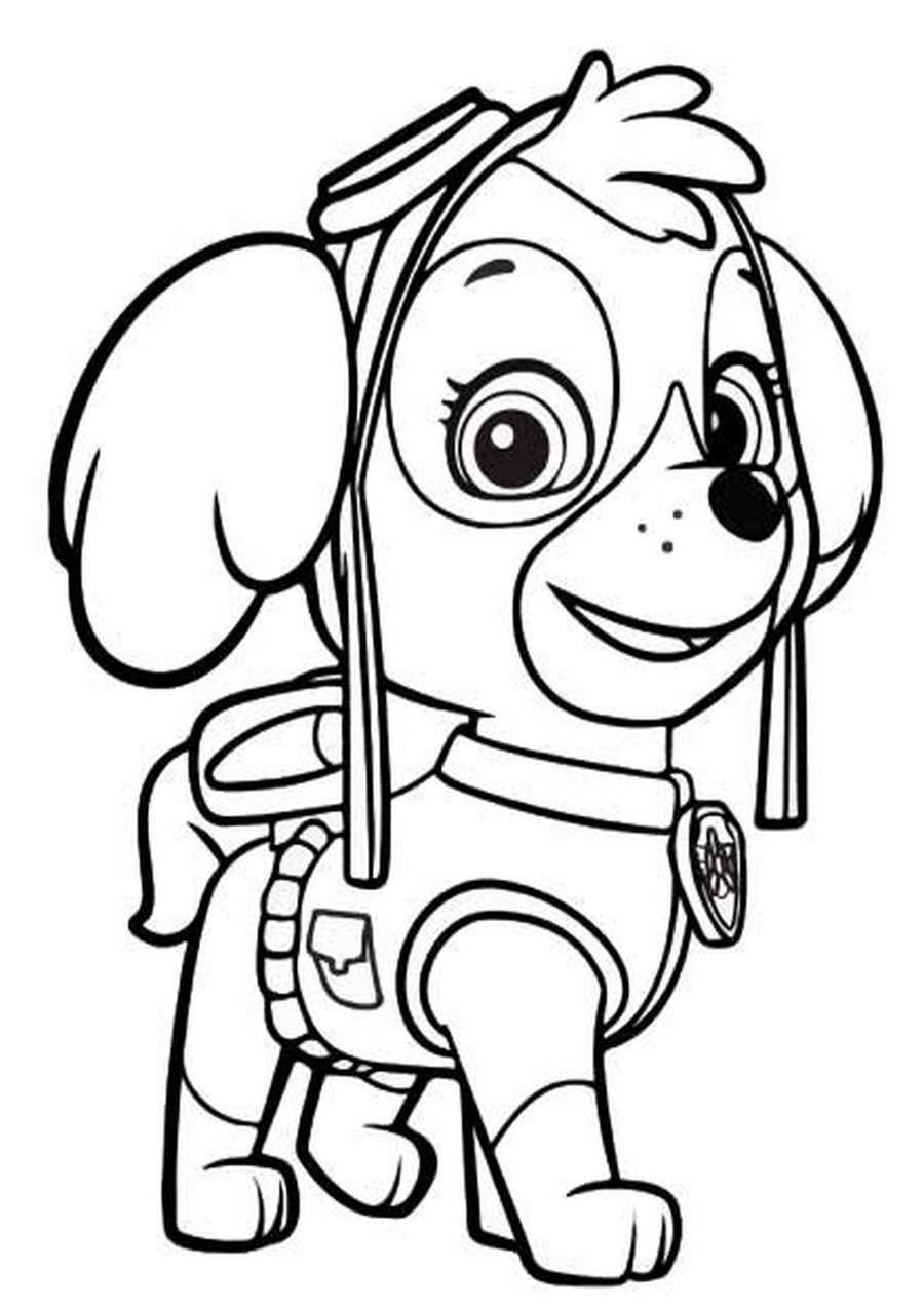 kleurplaat robot hond