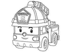 Robocar Poli Coloriage Avec Images Coloriage Camion Pompier