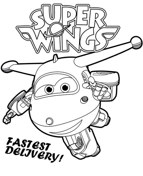 Super Wings Printable Coloring Pages Worksheets For Children