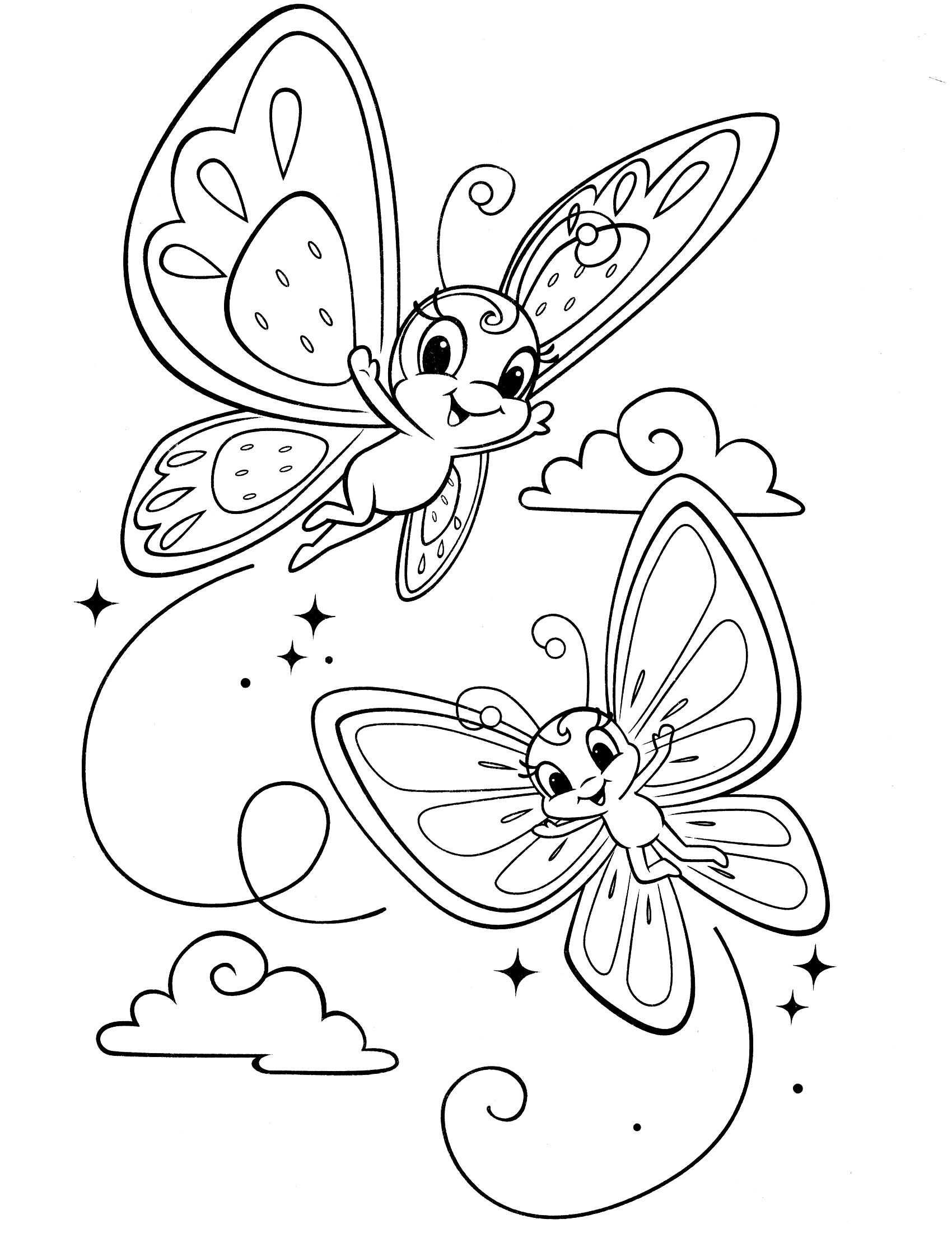 Kleurplaat Vlinders Geprint Mit Bildern Ausmalbilder