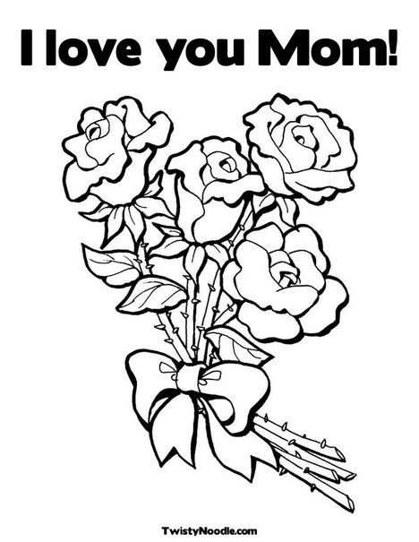 Moederdag Kleurplaat Coloring Page Mother S Day Modele De