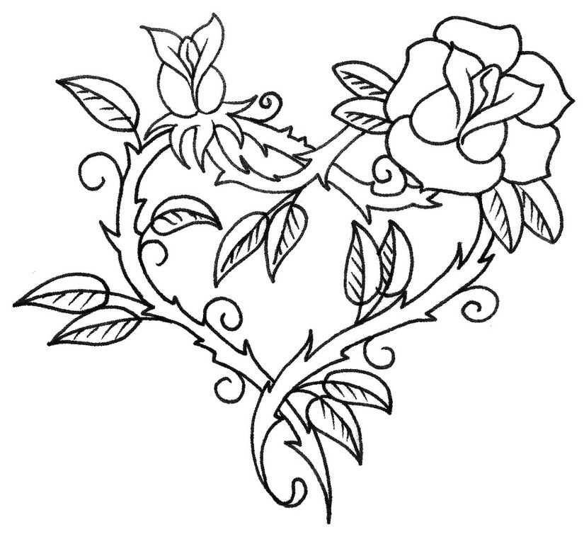 Kleurplaat Hart Valentijn Moederdag Vaderdag Stencils