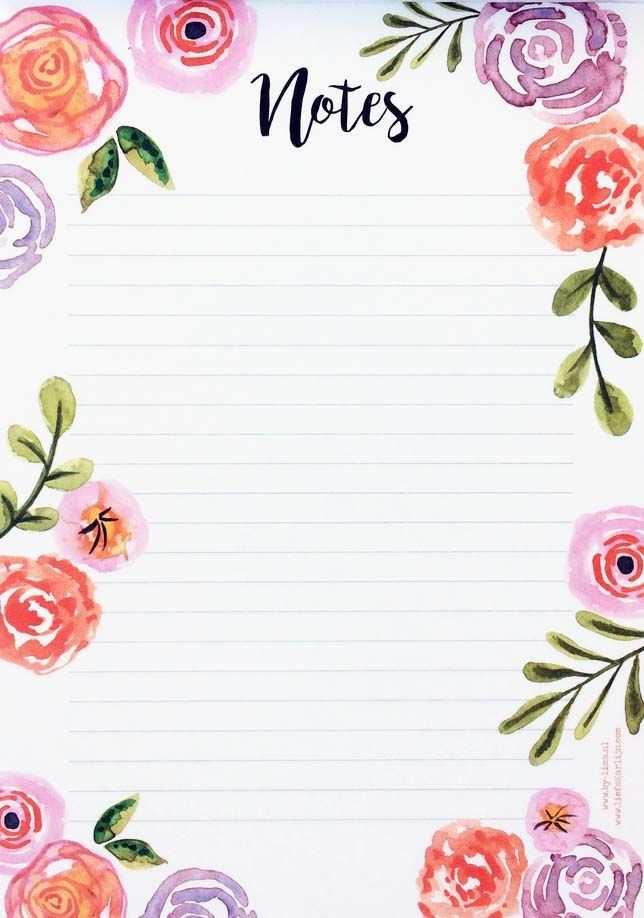 Notitieblok Bloemen Bloemen Briefpapier Papier