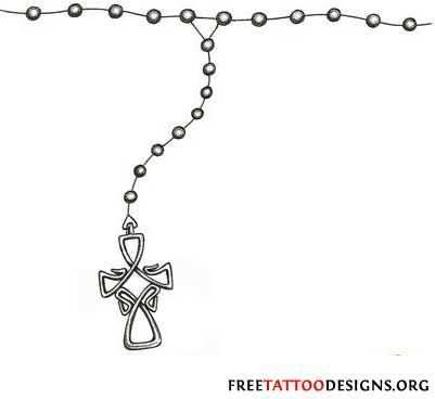 Love The Cross For A Rosary Tattoo I D Change The Beading Design