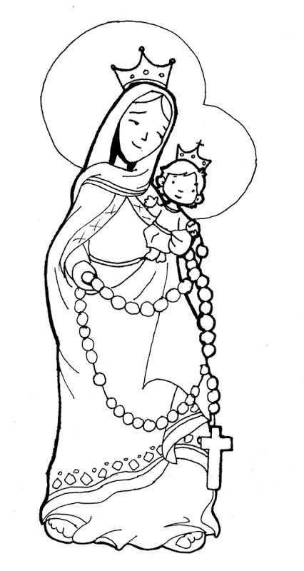 Virgin Marie Of The Rosary Coloring Pages Met Afbeeldingen