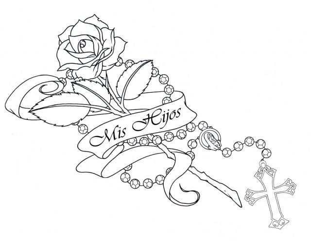 Cross Rosary Beads Tattoos Google Search Met Afbeeldingen