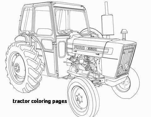 71 Awesome Collection Of Coloring Cars Tractor Coloring Pages