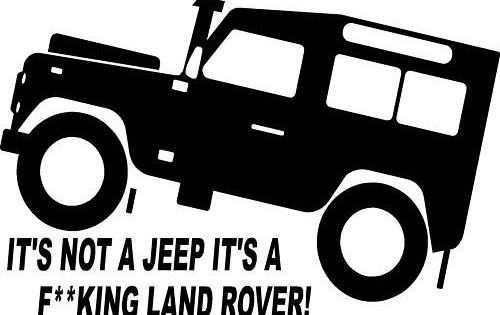 Fun Land Rover Td5 Defender 4x4 Off Road Sticker 3 Amazon Co Uk