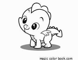 Baby Dragon Coloring Pages Online Free For Kids Draken