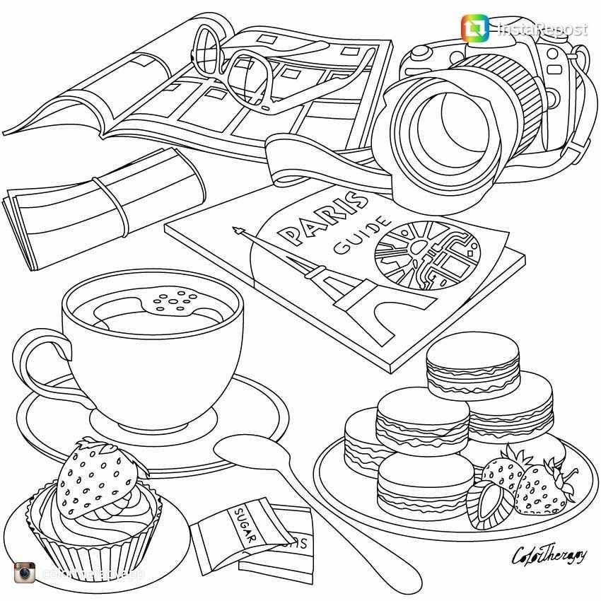 kleurplaat schattig eten