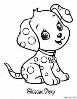 kleurplaat schattig hondje
