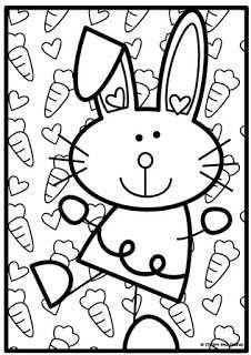 Bunny Rabbit Counting Game Knutselen Pasen Knutselen Voor Pasen