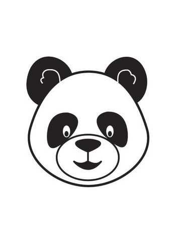Kleurplaat Kop Panda Kleurplaten Pandaberen Panda Knutselen