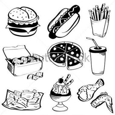 Hand Drawn Burger Google Search