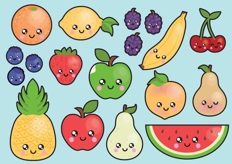 Premium Vector Clipart Kawaii Fruit Clipart Kawaii Clip Art