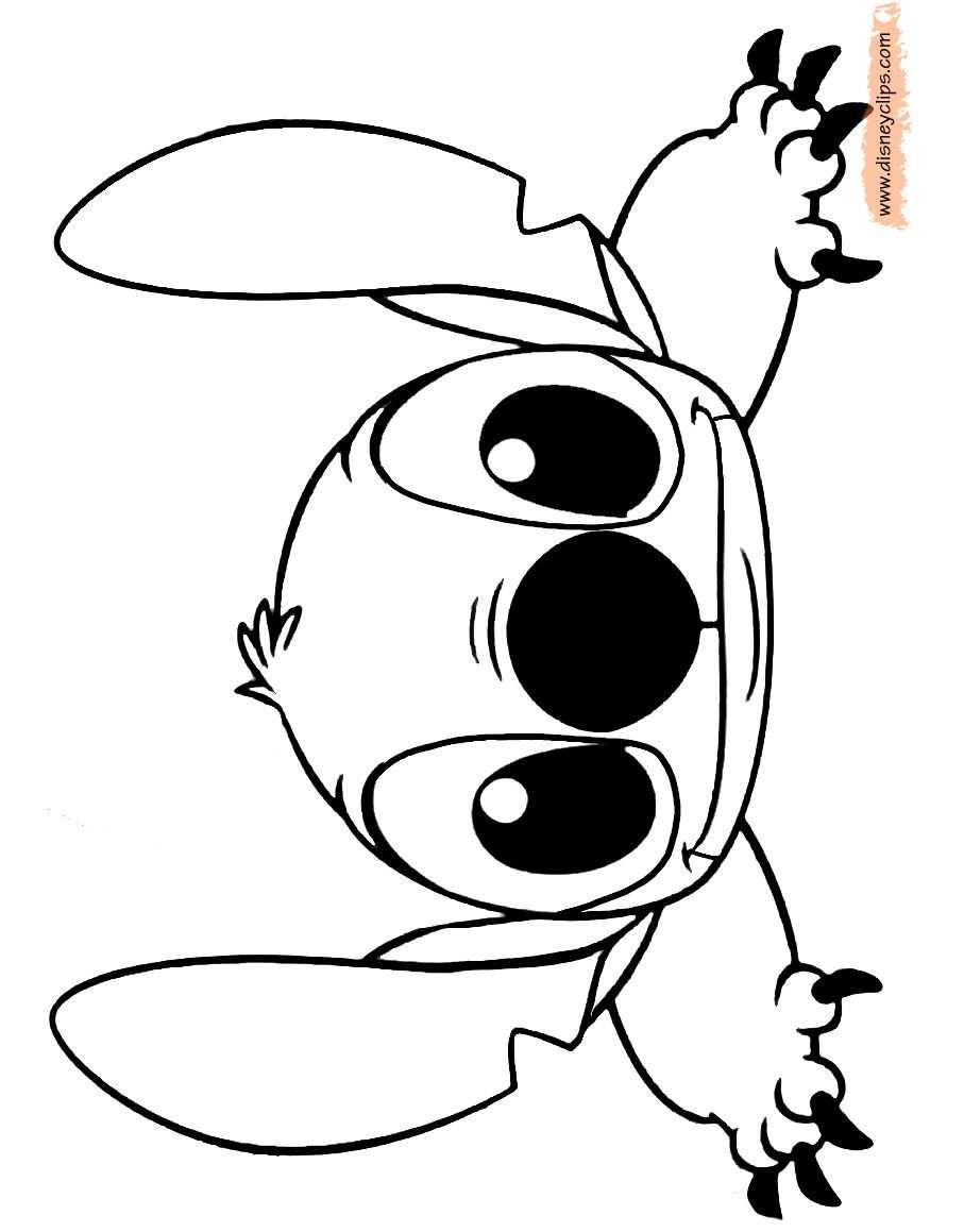 Cute Stitch Coloring Pages Tekeningen Disney Figuren Disney