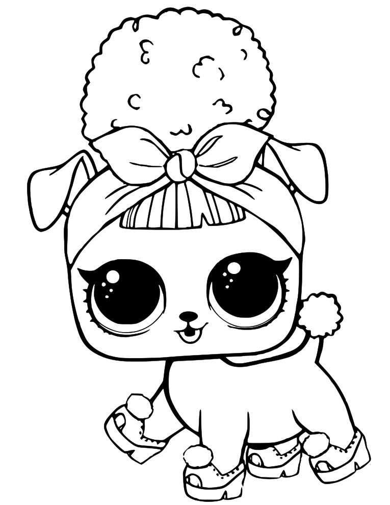 Lol Doll Coloring Pages Met Afbeeldingen Kleurplaten Lol Honden