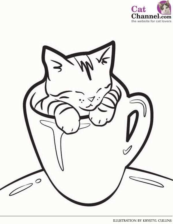 Cute Cat Coloring Pages 1 Kleurplaten Katten En Handbelettering
