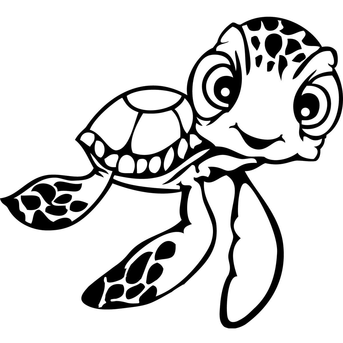 Finding Nemo Coloring Pages Bing Images Schildpad Tekening